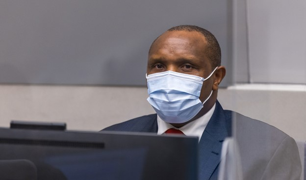 Bosco Ntaganda at the hearing held at the International Criminal Court on 30 March 2021 to deliver the appeals judgements on the verdict and sentence ©ICC-CPI