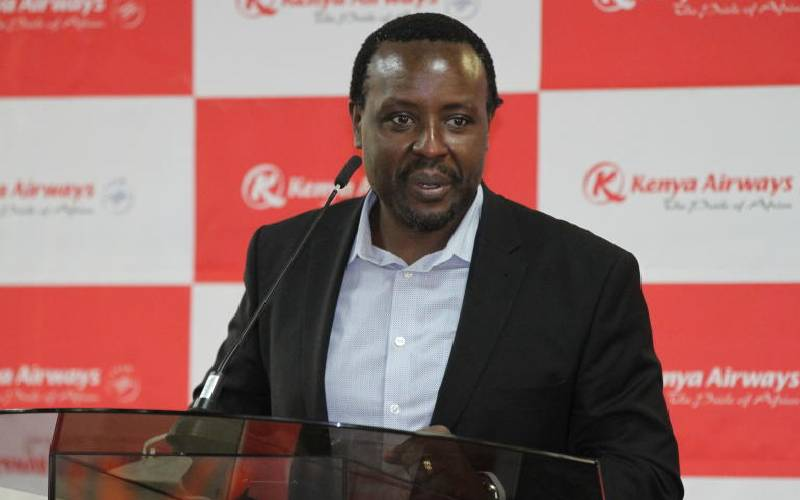 Allan Kilavuka, Kenya Airways - Group Managing Director & Chief Executive Officer.Photo courtesy